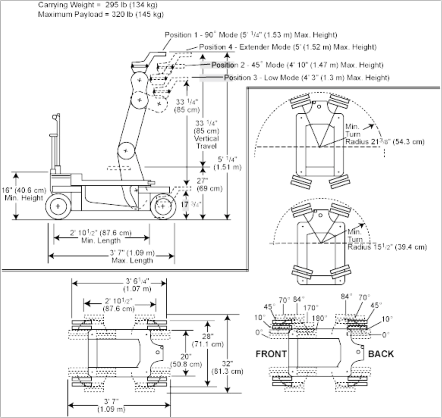 Chapman Super Pee Wee IV Dolly Line Drawing